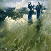 【欣赏级】YHR15105407-列宾Ilya Repin经典油画作品高清图片人物肖像油画作品图片素材写实派画家油画作品大图-8M-2200X1383