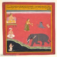 【打印级】YD12159707-印度画异域文化高清晰图片电子文件下载-36M-3229X4000