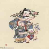 【超顶级】MSH1054民俗画杨柳青年画人物仕女儿童图片-162M-5937X10117_1526875