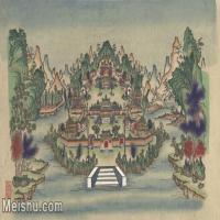 【超頂級】MSH1040民俗畫楊柳青年畫建筑宮殿圖片-132M-7481X4550_1535390