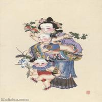 【超顶级】MSH1055民俗画杨柳青年画人物仕女儿童娃娃吉祥图片-233M-5944X10167_1527546