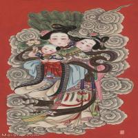【超顶级】MSH1057民俗画杨柳青年画娃娃仕女吉祥图片-360M-7927X14303_1549015