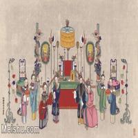 【超顶级】MSH1066民俗画杨柳青年画戏曲戏子唱戏图片-375M-12827X7629_1552437
