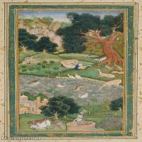 【欣赏级】YD12159608-印度画Mughal school India  异域文化高清晰图片电子文件下载-17M-1908X3199