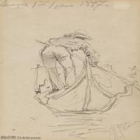 【打印级】SMR14154404-俄罗斯画家列宾Ilya Repin手绘素描速写作品图片素描手稿高清图片资料-27M-2411X4000