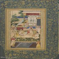 【欣赏级】YD12159604-印度画Jahangir and Prince Khuram feasted by Nur Jahan   Google Art Project异域文化高清晰图片电子文件
