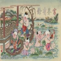 【超顶级】MSH1060民俗画富贵有余杨柳青年画图片-304M-12352X7520_1551421