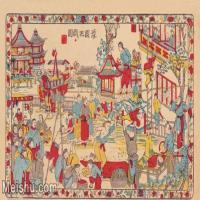【超顶级】MSH1019民俗画豫园把戏图唱戏戏子大戏戏曲古老年画图片-51M-4727X2894_1546328
