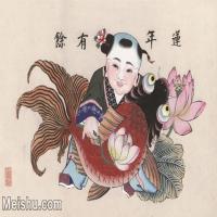 【超顶级】MSH1038民俗画连年有余杨柳青年画图片-117M-6796X4375_1536406