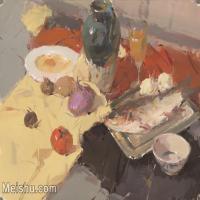 【印刷级】SF-10122449-水粉静物美院优秀试卷优秀考生绘画作品艺考高分题库高清图片-114M-6466X4646