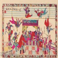 【超頂級】MSH1016民俗畫迷人館捉拿九花娘古老年畫戲子唱戲大戲圖片-48M-4713X2894_1546875