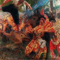 【打印级】YHR15105424-列宾Ilya Repin经典油画作品高清图片人物肖像油画作品图片素材写实派画家油画作品大图-21M-2958X2491