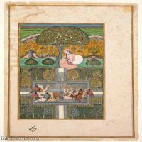 【欣赏级】YD12159609-印度画Nusrati of Bijapur Indian Deccan  异域文化高清晰图片电子文件下载-17M-1934X3199