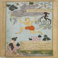 【打印级】YD12159612-印度画Zayn al Abidin   Ramayana of ValmikiC vol C folio C recto   Google Art Project异域文