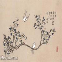【超頂級】MSH1039民俗畫楊柳青年畫雪雁梨花圖片-121M-7252X4266_1538421