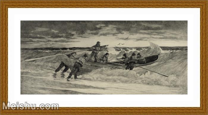【超顶级】SM9196362-名作底稿-小船只海边海员高清图片-93M-8613X3801.jpg