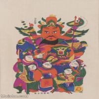 【超顶级】MSH1118民俗画门神年画图片-53M-3614X5203