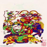 【印刷级】MSH1010民俗画朱仙镇年画门神图片-40M-2894X4924