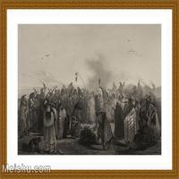【印刷级】SM9196863-名作底稿-印第安人部落集会欢庆高清图片-49M-5081X3416