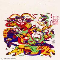 【印刷级】MSH1003民俗画朱仙镇年画门神图片-40M-2894X4887