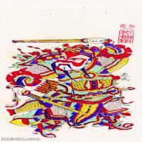 【印刷级】MSH1013民俗画朱仙镇年画门神图片-38M-2618X5104