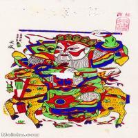 【印刷级】MSH1008民俗画朱仙镇年画门神图片-38M-2756X4823