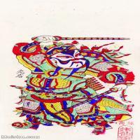 【印刷级】MSH1001民俗画朱仙镇年画门神图片-38M-2618X5076