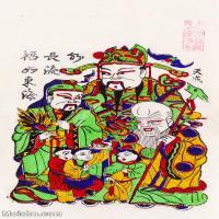 【印刷级】MSH1002民俗画朱仙镇年画寿星福如东海图片-41M-2894X4976