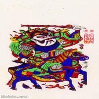【印刷级】MSH1009民俗画朱仙镇年画门神图片-37M-2756X4780