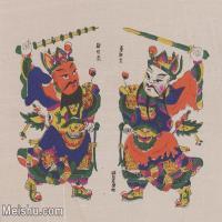 【超顶级】MSH1117民俗画门神年画 图片-53M-4759X3916