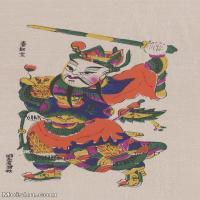 【印刷级】MSH1023民俗画秦叔宝门神图片-27M-2440X3916