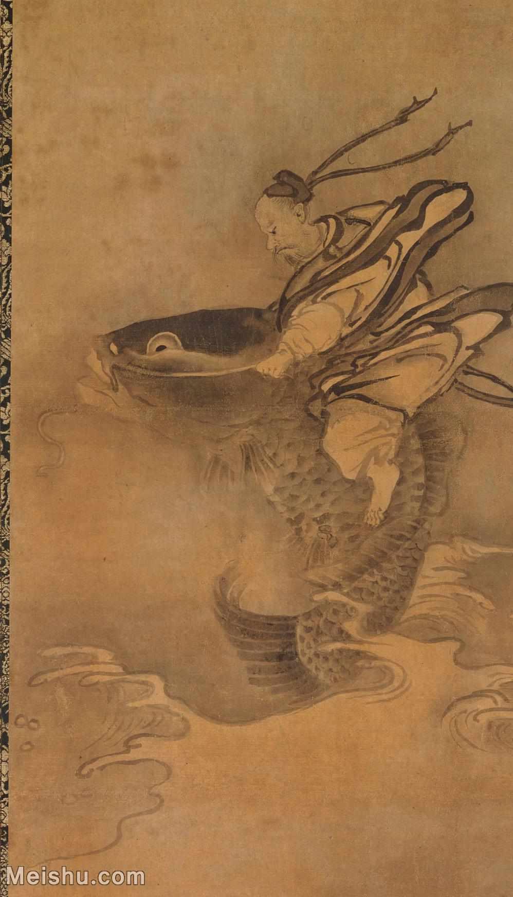 【印刷级】GH6086266古画人物琴高群仙图立轴图片-64M-3584X6254_14835320.jpg