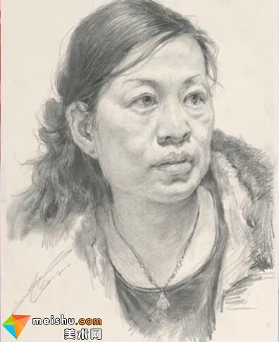 美术高考视频教学--素描刘旭女中年头像