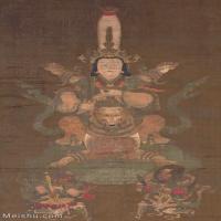 【超顶级】GH6086161古画人物日本狐仙画像-RSL日本艺术研究所立轴图片-170M-5872X10167_15217944