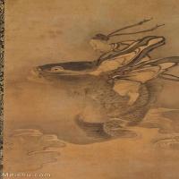 【印刷级】GH6086266古画人物琴高群仙图立轴图片-64M-3584X6254_14835320