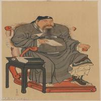 【印刷级】GH6086124古画人物关羽关公关二爷立轴图片-88M-4205X7368_14821327