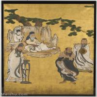 【印刷级】GH6086010古画人物立轴图片八仙过海-56M-3728X5300_14795977