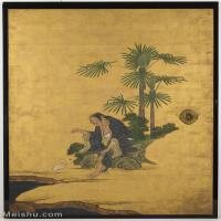 【印刷级】GH6086008古画人物立轴图片八仙过海-56M-3727X5300
