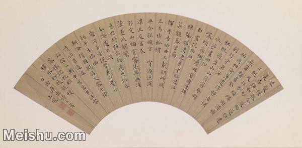【打印级】GH6070087古画书法王宠楷书谢康乐诗扇面图片-34M-4943X2429.jpg
