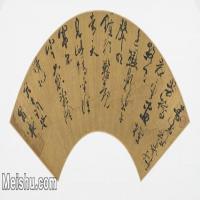 【打印级】GH6070026古画书法扇面图片-37M-5300X2491