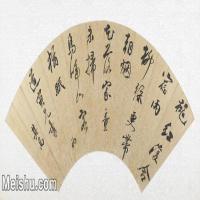 【打印级】GH6070025古画书法扇面图片-40M-5300X2672