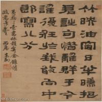 【印刷级】SF6040138书法立轴-清 高翔-隶书七言绝句轴图片-163M-5323X8041