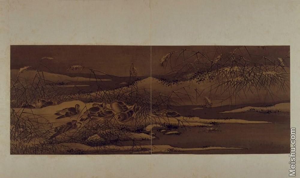 【印刷级】GH6064089古画古琴曲《秋鸿》图谱册1_17宿芦图册页图片-70M-6432X3825.jpg