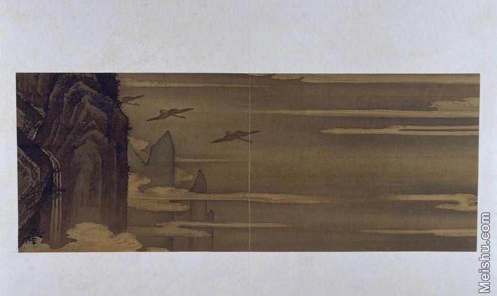 【印刷级】GH6064118古画古琴曲《秋鸿》图谱册4_17声断楚云图册页图片-70M-6416X3819.jpg