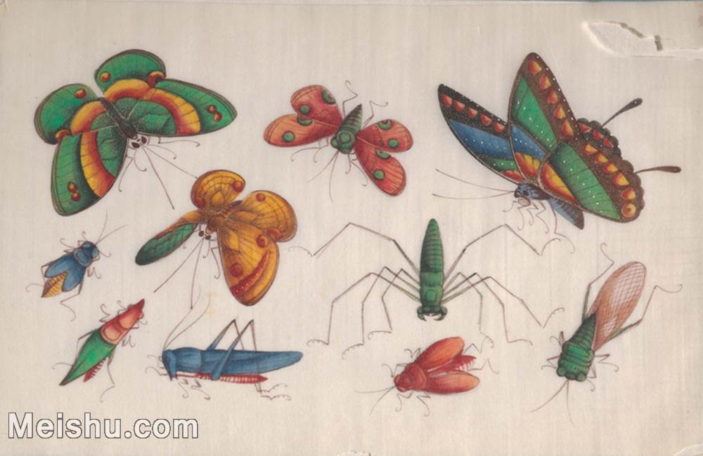【欣赏级】GH6062938古画清代昆虫蝴蝶小品图册6册页图片-4M-1544X1004.jpg