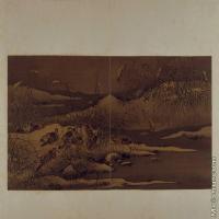 【印刷级】GH6064089古画古琴曲《秋鸿》图谱册1_17宿芦图册页图片-70M-6432X3825
