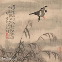 【印刷级】GH6061944古画边寿民-芦雁图十开(1)册页图片-68M-4882X3688