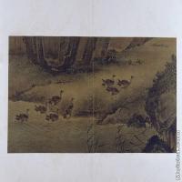 【印刷级】GH6064116古画古琴曲《秋鸿》图谱册4_13入塞图册页图片-70M-6568X3736
