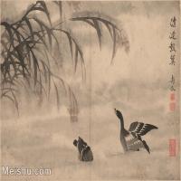 【印刷级】GH6061954古画边寿民-芦雁图十开(9)册页图片-40M-4872X3690