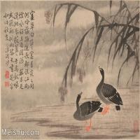 【印刷级】GH6061948古画边寿民-芦雁图十开(3)册页图片-69M-4881X3707